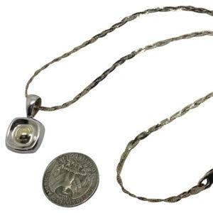 Silpada sterling silver two tone pendant necklace